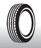 Tyre drawing. Vector illustration of a tyre Royalty Free Stock Image