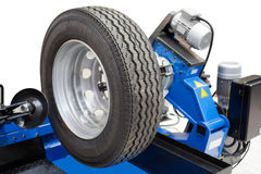 Tyre fitting machine Royalty Free Stock Photos