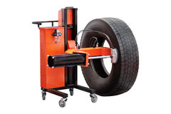 Tyre fitting machine Stock Images