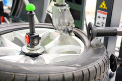 Tyre fitting machine. The image of tyre fitting machine royalty free stock image