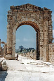 Tyre gate. The ancient roman gate of the phoenician city of tyre in lebanon stock photo