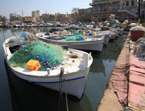 Tyre Harbor, Lebanon. The old harbor at Tyre in southern Lebanon, in use since the ancient phoenecian times Stock Images