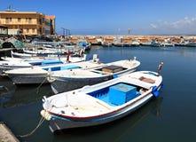 Tyre harbor , Lebanon Stock Images