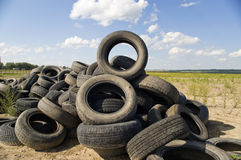Tyre heap. Royalty Free Stock Images