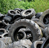 Tyre heap. Polluting the countryside Stock Images