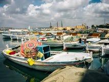Tyre, Lebanon. Harbor view in Tyre, Lebanon stock image