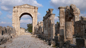 Tyre. Lebanon. Roman arch in the archaeological site of Al-Bass in Tyre, Lebanon Stock Photography