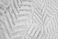 Tyre mark on snow Stock Image