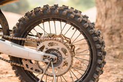 Tyre of motocross Royalty Free Stock Photography