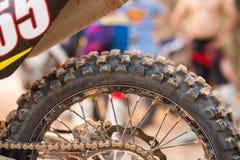 Tyre of motocross Royalty Free Stock Photo