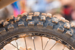 Tyre of motocross Stock Photography