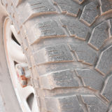 Tyre on an off road Stock Image