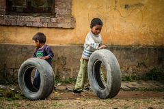 Tyre play royalty free stock images
