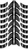 Tyre print Stock Image