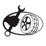 Tyre repair Stock Images