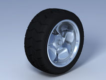 Tyre with rim Stock Image