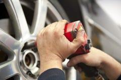 Tyre Service By Mechanic Stock Photo