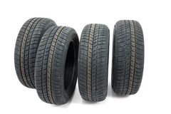 Tyre sets Royalty Free Stock Images