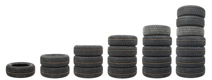 Tyre sets Stock Photography