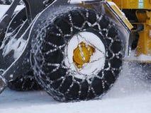 Tyre snow chain Stock Photos
