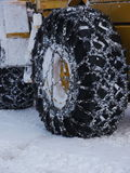 Tyre snow chain Stock Photo