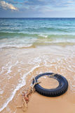 Tyre Swing on the beach, Samed Thailand Stock Photo