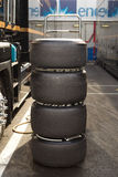 Tyre tower Royalty Free Stock Photos