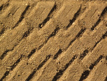 Tyre track Royalty Free Stock Image
