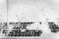 Tyre track detail Royalty Free Stock Photography