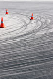 Tyre track detail Stock Photo