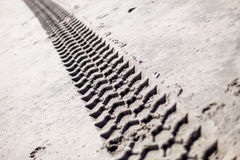 Tyre track Royalty Free Stock Images