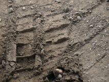 Tyre track Royalty Free Stock Photography