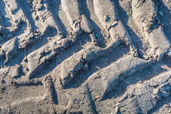 Tyre tracks from close Royalty Free Stock Photo
