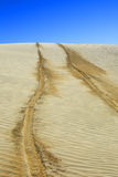 Tyre Tracks In Desert Stock Images
