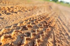 Tyre tracks Royalty Free Stock Photo