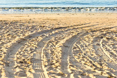 Tyre tracks Royalty Free Stock Photos