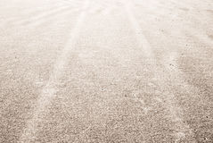 Tyre tracks on the sand Royalty Free Stock Photo