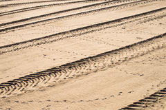 Tyre tracks stock photography