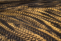 Tyre tracks in sand Royalty Free Stock Photos