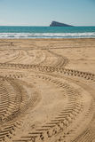 Tyre tracks Royalty Free Stock Photography