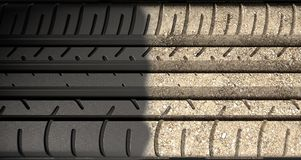 Tyre Tread Morphing To Ground Royalty Free Stock Photo