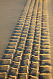 Tyre tread on a sand Royalty Free Stock Photos