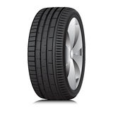 Tyre. Wheel. Vector. Matte Black tubeless low profile tyre on the shiny silver drive, isolated on white background royalty free illustration