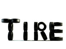 Tyre word Royalty Free Stock Photos