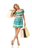 Tyred shopping girl Stock Image