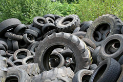 Tyres. Tyre heap ready for recycling Stock Image