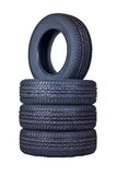 Tyres. With a protector close up cut out on a white background Royalty Free Stock Photos
