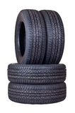 Tyres. With a protector close up cut out on a white background Stock Photography