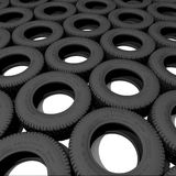 Tyres. Over the white background (3D Royalty Free Stock Photography