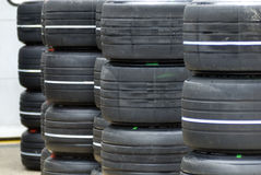 Tyres. F1 racing car slick tire Stock Photo
